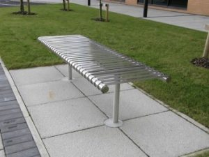 Various types of Benches and street furniture by lasercentre uk