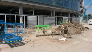 MILD STEEL GATES FOR NEW ENTRANCE ON ETIHAD EXTENSION